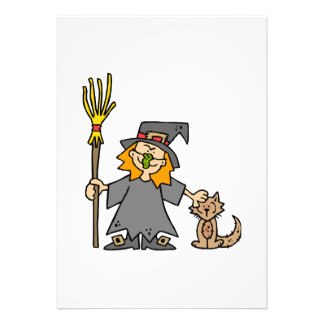 haloween witch personalized announcement