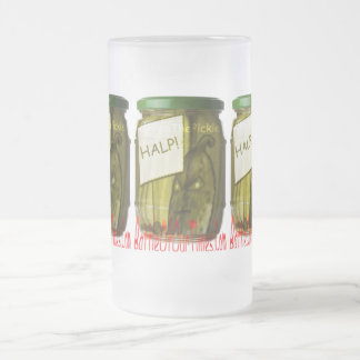 Halp #FreeThePickle | #jWe | #Weee! Frosted Glass Beer Mug
