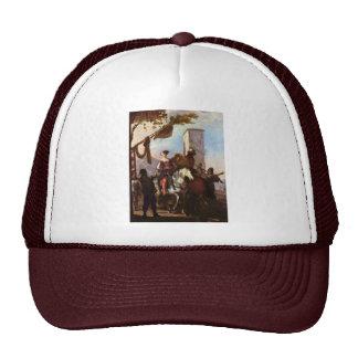 Halt In Front Of The Inn By Schönfeld Johann Heinr Trucker Hat