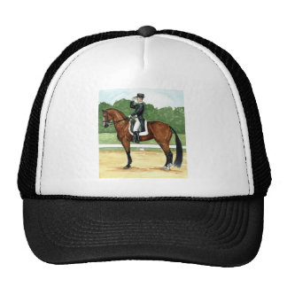 Halt Salute at X Dressage Art Bay Horse Mesh Hat