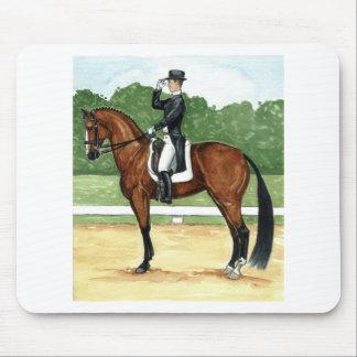 Halt, Salute at X Dressage Art Bay Horse Mouse Pad