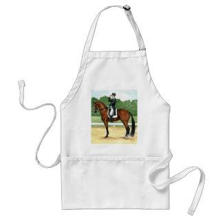 Halt, Salute at X Dressage Art Bay Horse Standard Apron
