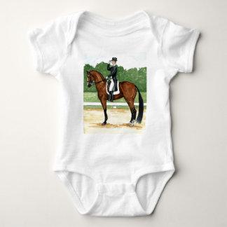 Halt, Salute at X Dressage Art Bay Horse T Shirt