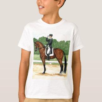 Halt, Salute at X Dressage Art Bay Horse T-Shirt