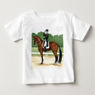 Halt, Salute at X Dressage Art Bay Horse Tee Shirt
