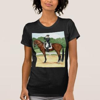 Halt, Salute at X Dressage Art Bay Horse Tshirt