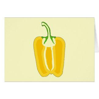 Halved Yellow Bell Pepper. Card