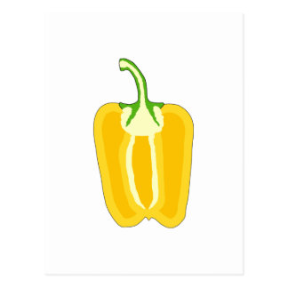 Halved Yellow Bell Pepper. Postcard