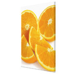 Halves and quarters of ripe, juicy, sweet canvas prints