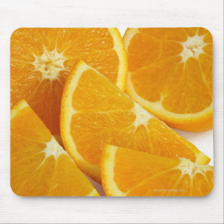Halves and quarters of ripe, juicy, sweet mouse mat