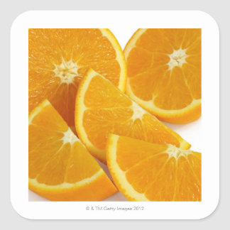 Halves and quarters of ripe, juicy, sweet square sticker