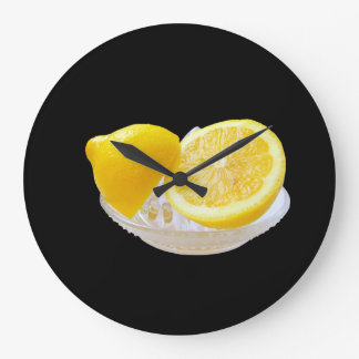 halves of lemon large clock