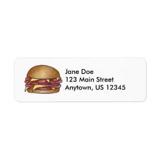 Ham and Cheese Sandwich Return Address Labels