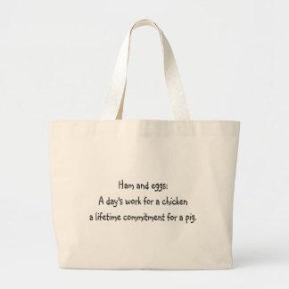 Ham and eggs jumbo tote bag