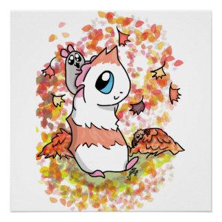 Ham and Piggy autumn Poster