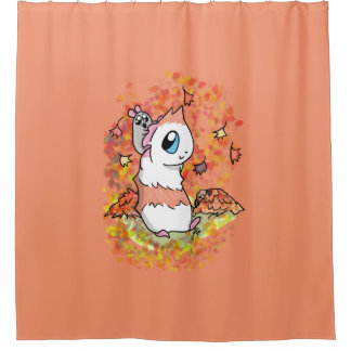 Ham and Piggy autumn Shower Curtain