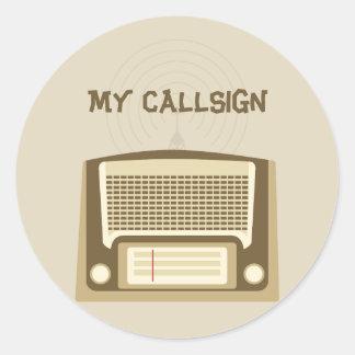 Ham radio classic round sticker