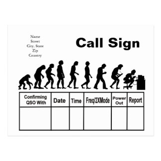 Ham Radio Evolution QSL Card   Customize It! Post Cards
