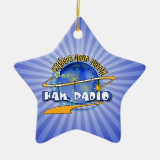 HAM RADIO - EXPLORE YOUR WORLD CHRISTMAS ORNAMENT