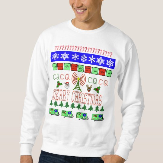 Ham Radio Fair Isle Design Christmas Sweatshirt