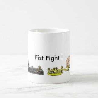"Ham Radio ""Fist Fight"" Mug by Brownielocks"
