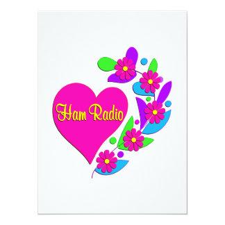 Ham Radio Heart 14 Cm X 19 Cm Invitation Card