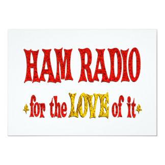 Ham Radio Love 13 Cm X 18 Cm Invitation Card