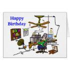 "Ham Radio ""Man Cave"" Birthday Card  Customise It!"