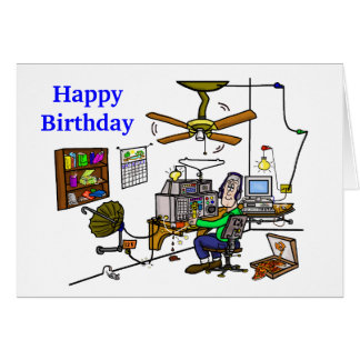"Ham Radio ""Man Cave"" Birthday Card  Customize It!"