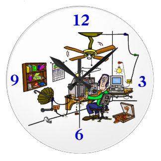 "Ham Radio ""Man Cave"" Wall Clock.  Customize It! Large Clock"