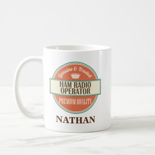 Ham Radio Operator Personalised Office Mug Gift
