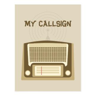 Ham radio postcard