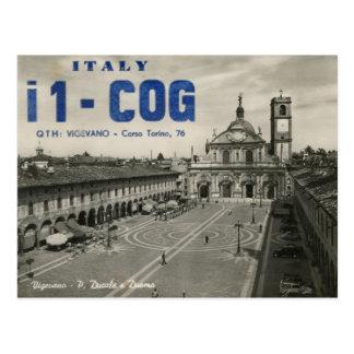 Ham Radio QSL Card Italy Postcard