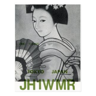 Ham Radio QSL Card Tokyo Japan Postcard