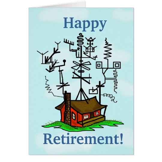 Ham Radio Retirement Greeting Card Customise It!