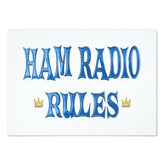 Ham Radio Rules 13 Cm X 18 Cm Invitation Card