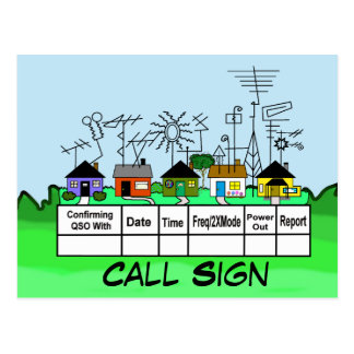Ham Radio Street QSL Card  Customize It! Postcard