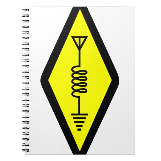 Ham Radio Symbol Spiral Notebook