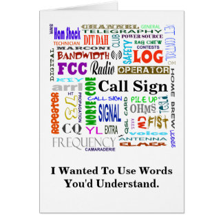 Ham Radio Word Collage  Card   Customize It!
