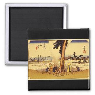 Hamamatsu', Ando Hiroshige_The Orient Square Magnet