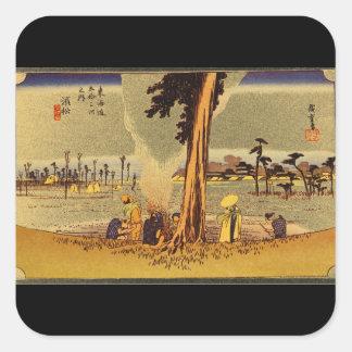 Hamamatsu', Ando Hiroshige_The Orient Square Sticker