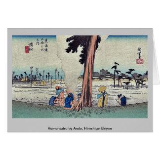 Hamamatsu by Ando, Hiroshige Ukiyoe Greeting Card