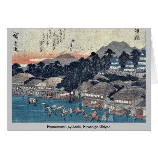 Hamamatsu by Ando, Hiroshige Ukiyoe Card