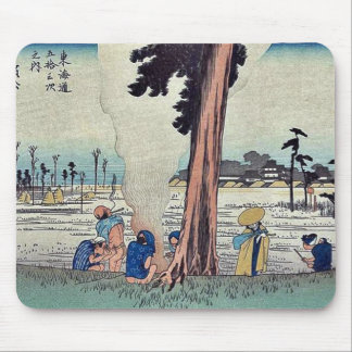 Hamamatsu by Ando, Hiroshige Ukiyoe Mouse Pads