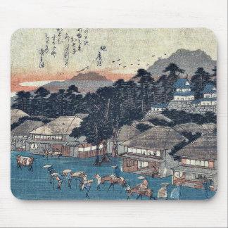 Hamamatsu by Ando, Hiroshige Ukiyoe Mousepad