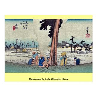 Hamamatsu by Ando, Hiroshige Ukiyoe Postcard