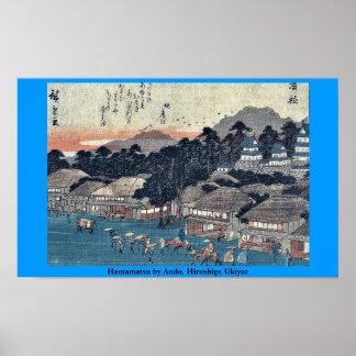 Hamamatsu by Ando, Hiroshige Ukiyoe Poster