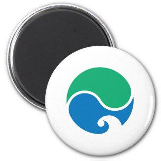 Hamamatsu city flag Shizuoka prefecture japan symb 6 Cm Round Magnet