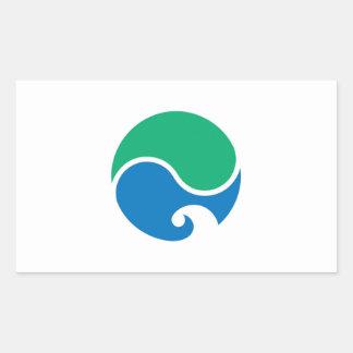 Hamamatsu city flag Shizuoka prefecture japan symb Rectangular Sticker