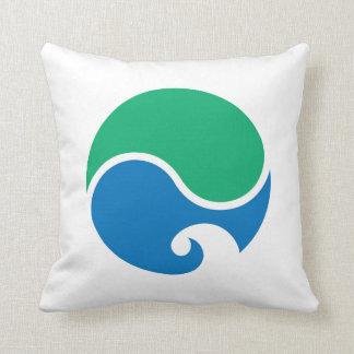 Hamamatsu city flag Shizuoka prefecture japan symb Throw Pillow